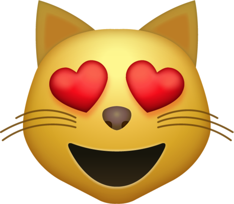 Heart eyes emoji png. Download cat iphone icon