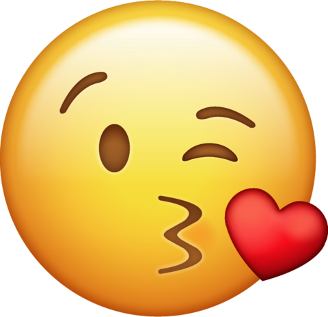 Heart face emoji png. Download kiss with iphone
