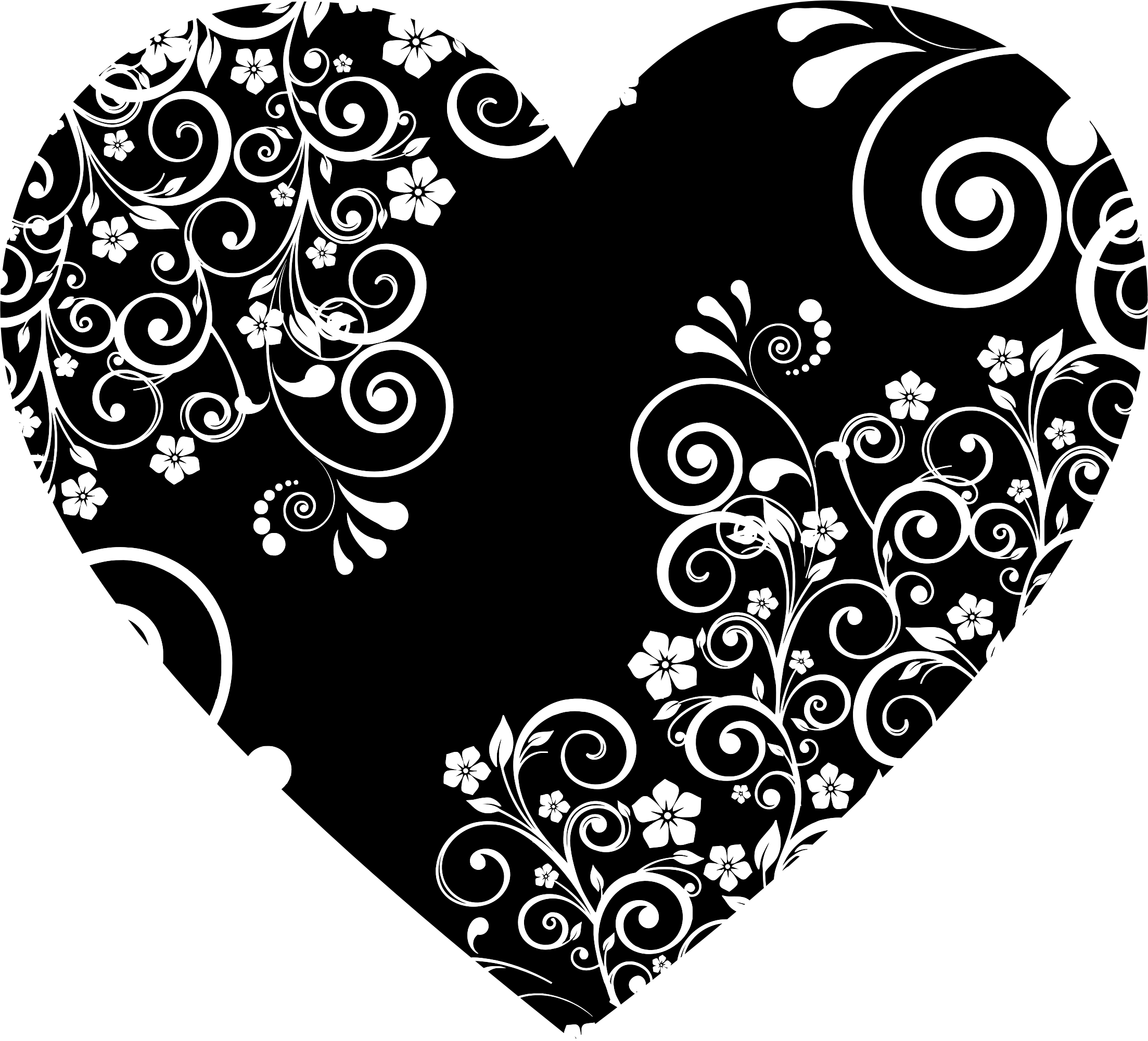 Heart flourish png. Floral icons free and