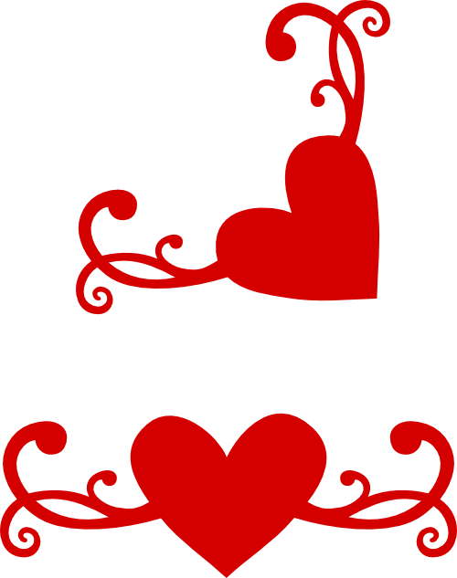 Heart flourish png. Another with matching corner