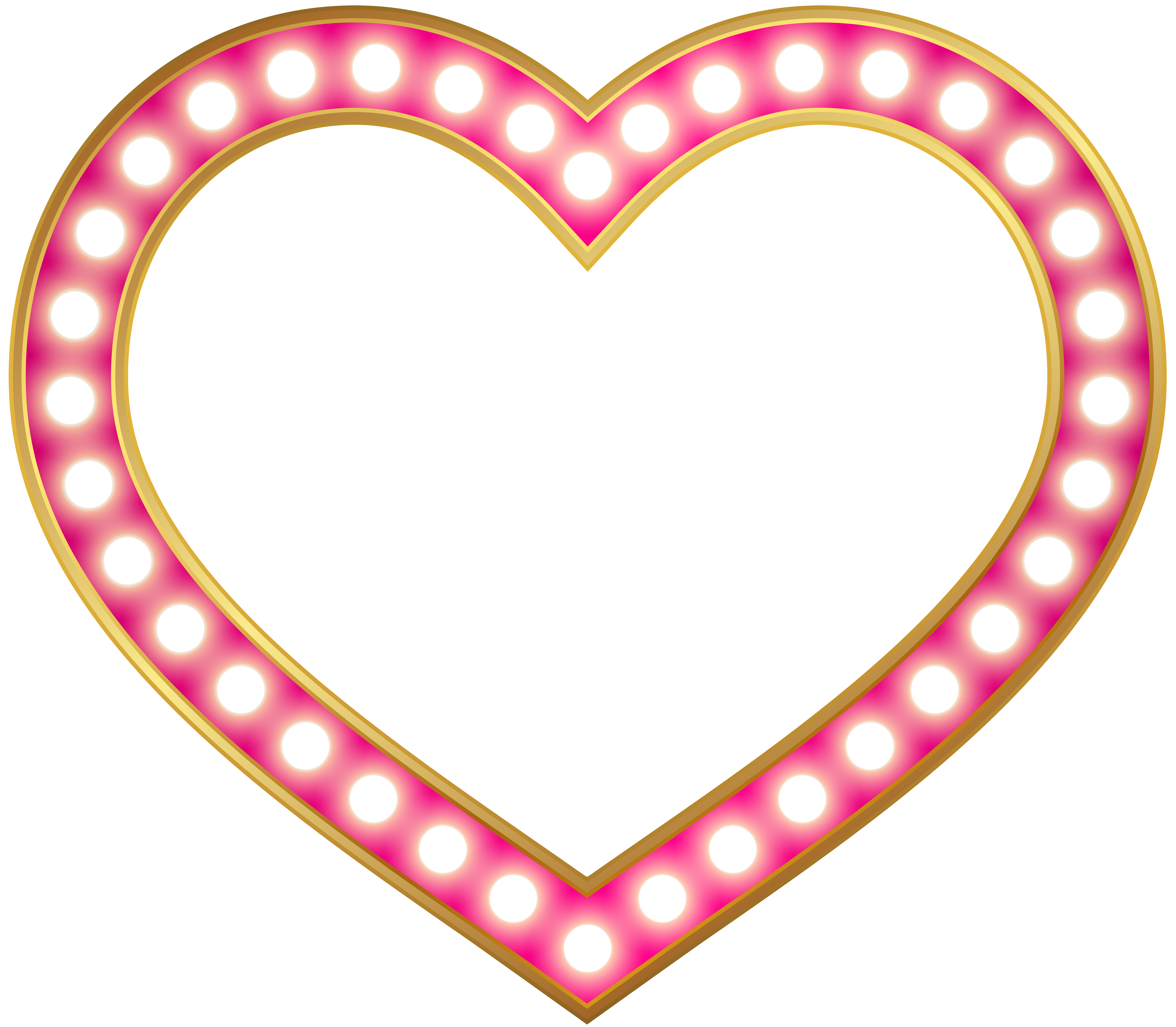 Glowing heart png. Border frame clip art