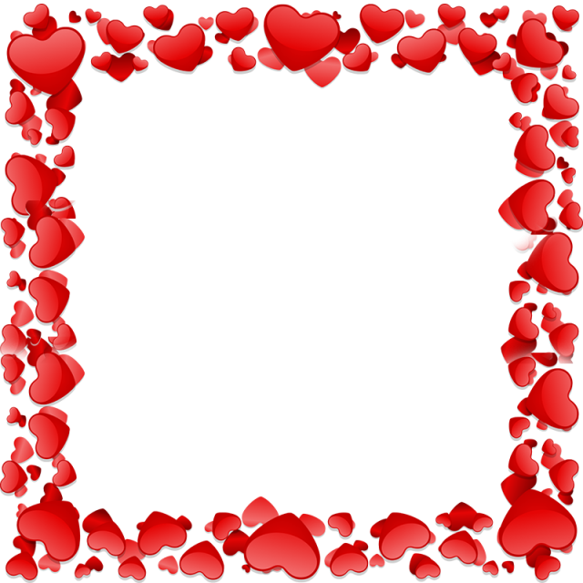 Beautiful vector and psd. Heart frame png picture transparent library