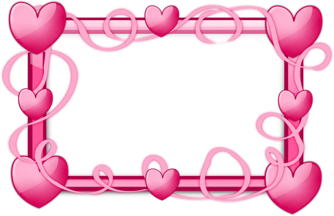 Png heart frame. Picture frames right border