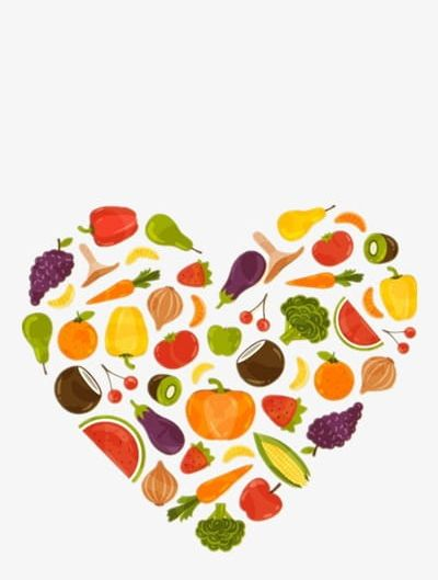 Heart fruit. Healthy food png clipart