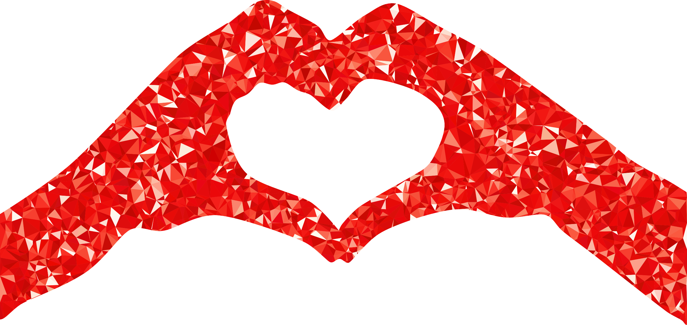 Heart hands png. Ruby silhouette icons free
