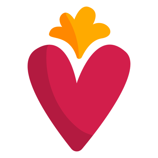 Corazón png layout. Flat heart icon transparent