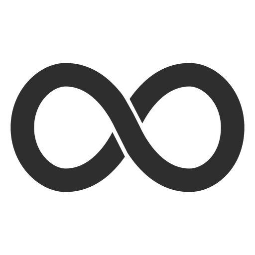 Heart infinity symbol png. Simple logo infinite transparent