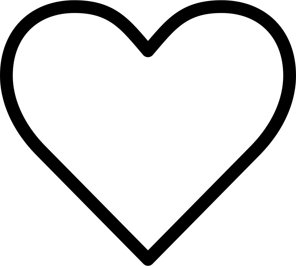 Heart line art png. Silhouette clip transprent free