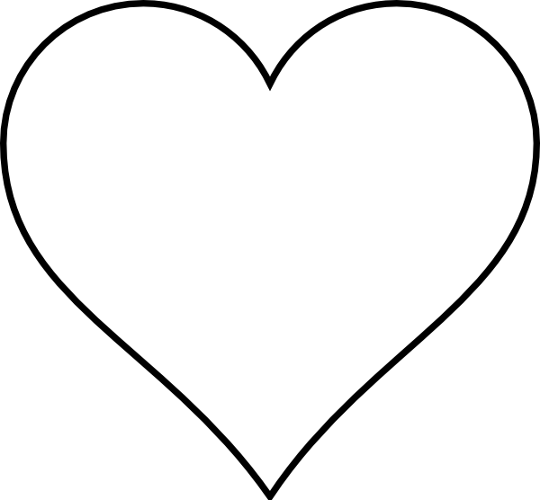Heart line art png. Images clip simple vector