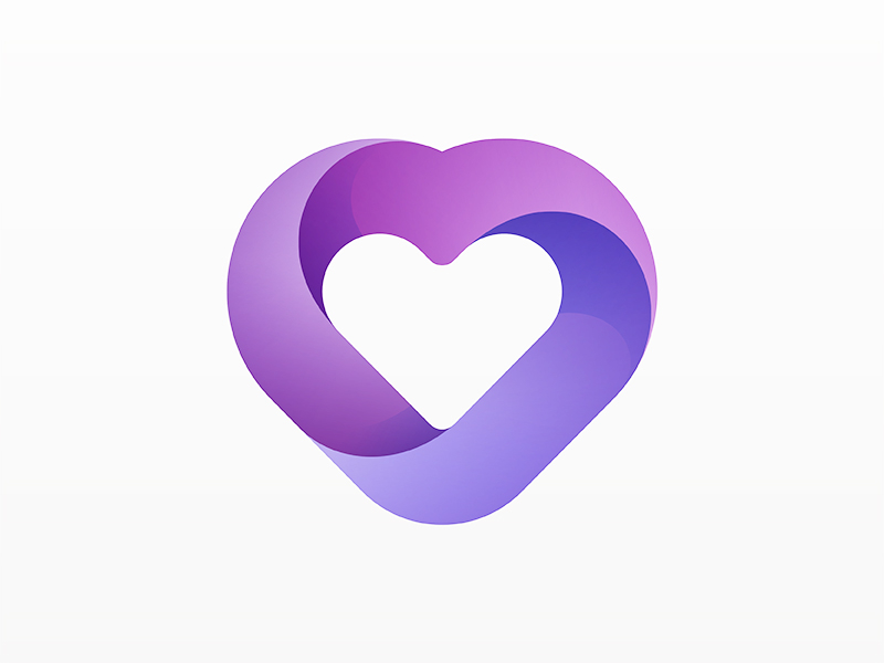 Heart logo. By yoga perdana dribbble