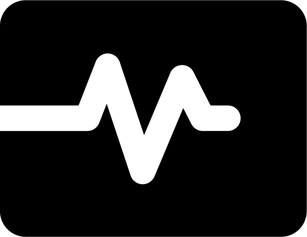 Heart monitor png. Rate svg icon free