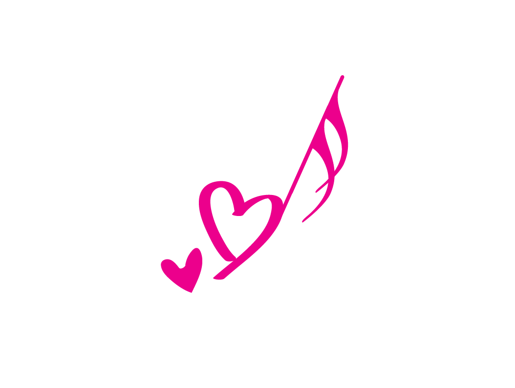 Heart music note png. Design free logo template