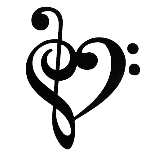 Heart music note png. Clef transparent images all