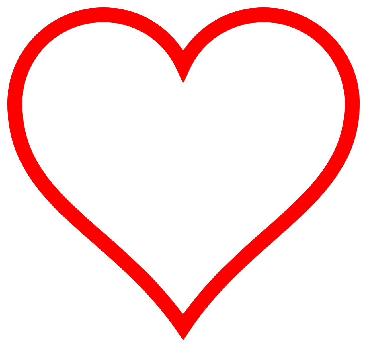 Corazón png red heart. Simple transparent stickpng download