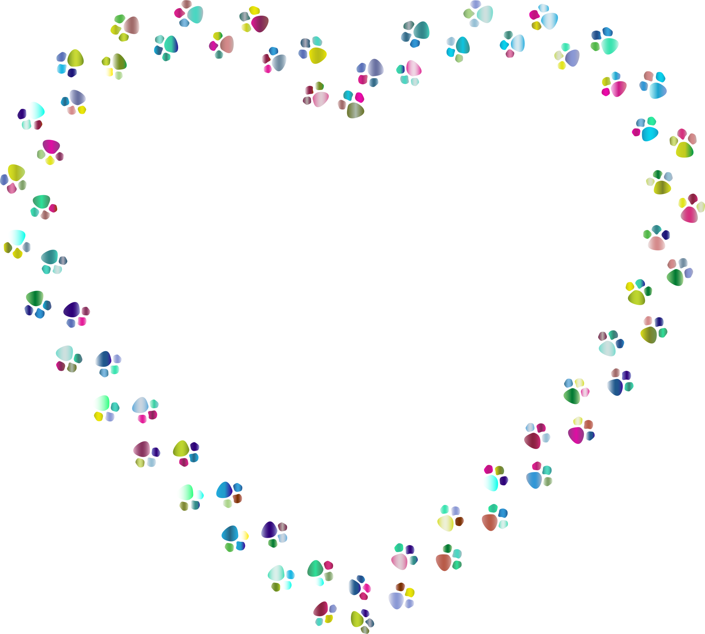 Heart paw png. Colorful prints mark ii