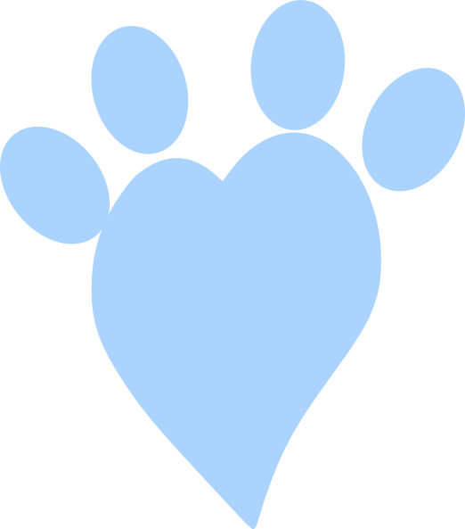 Heart paw png. Blue clip art at