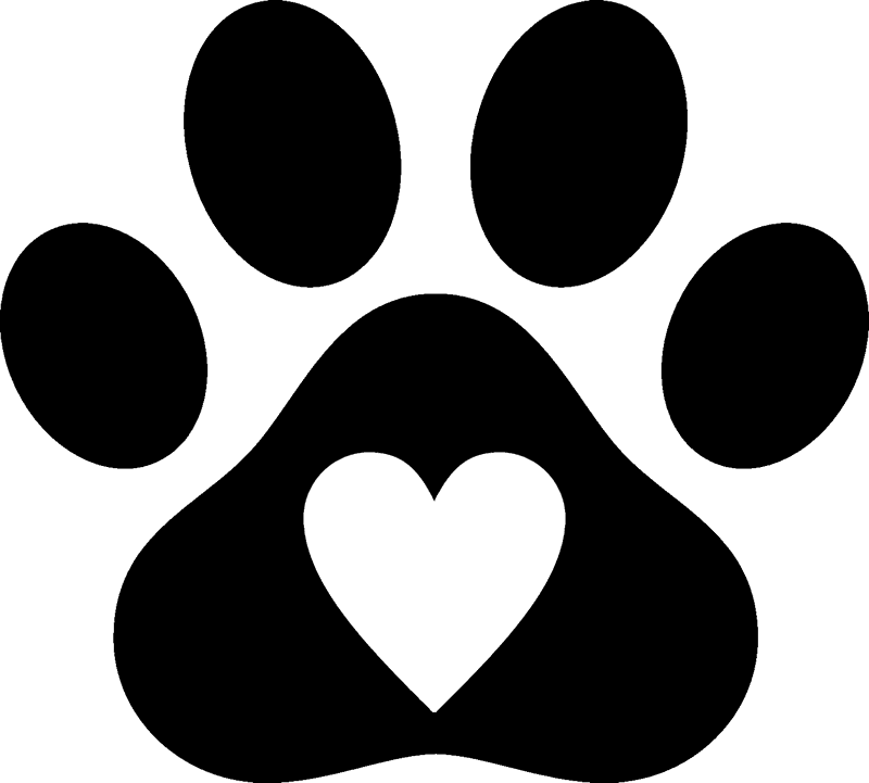 Print with rubber stamp. Dog paw heart png clip transparent download