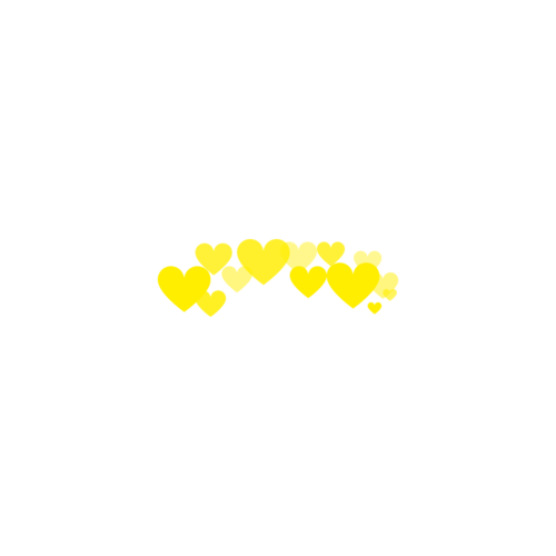 Heart photo booth png. Made by me yellow