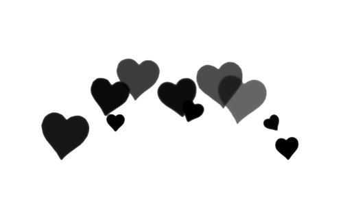 Heart png black. Image about tumblr in