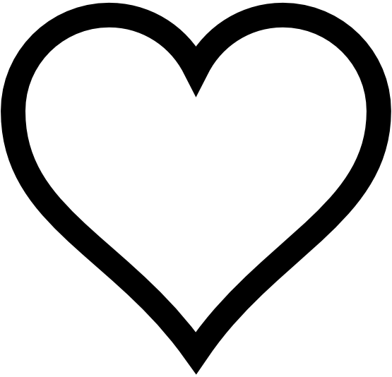 heart png black and white