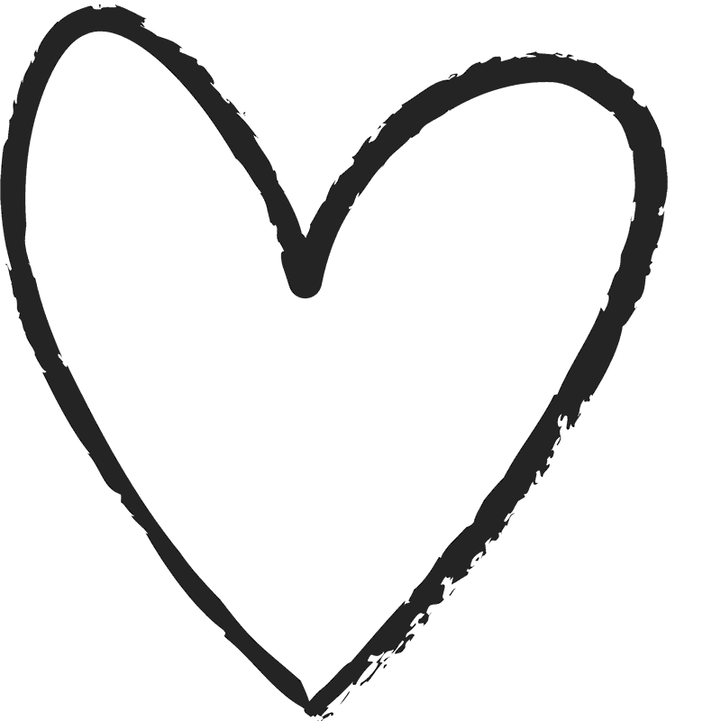 Heart png black and white. Fun distressed rubber stamp