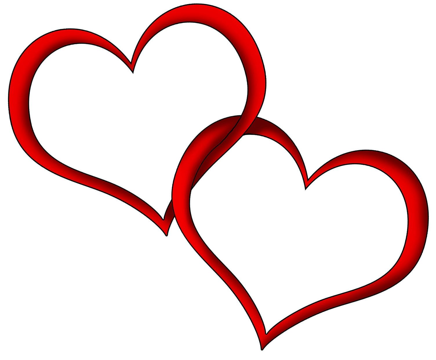 Transparent red hearts. Heart png clipart clip black and white stock