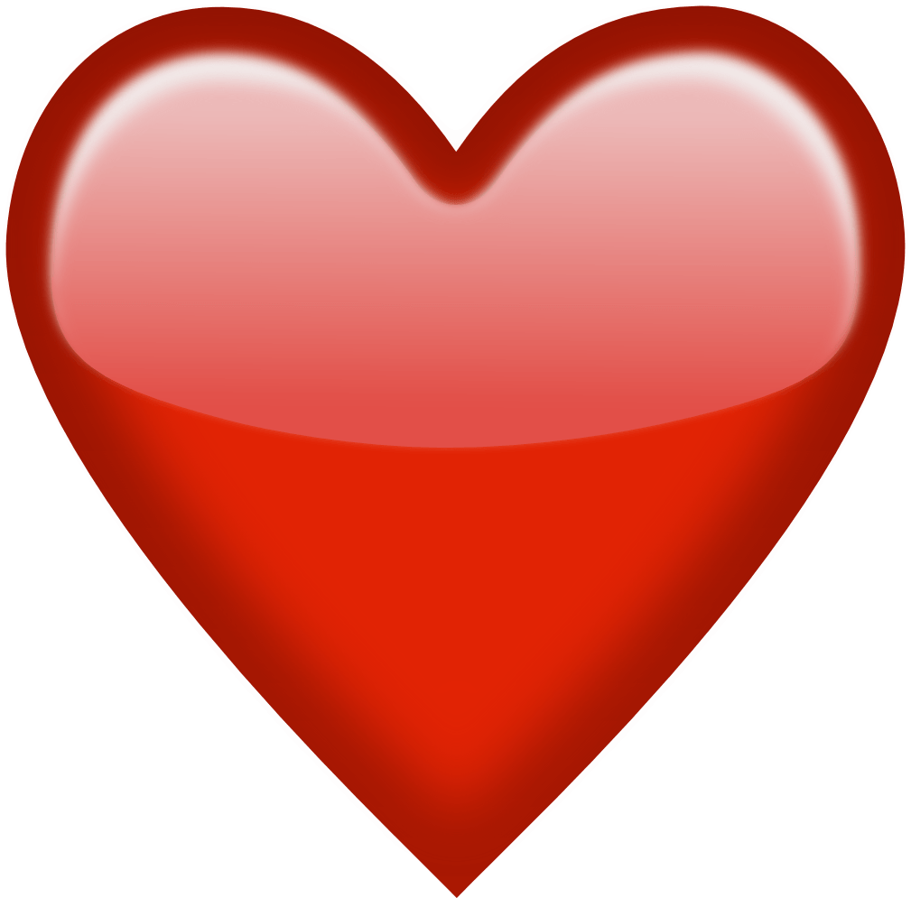 Heart png clipart. Emoji red