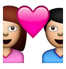Heart, png couple. Ios emoji with heart