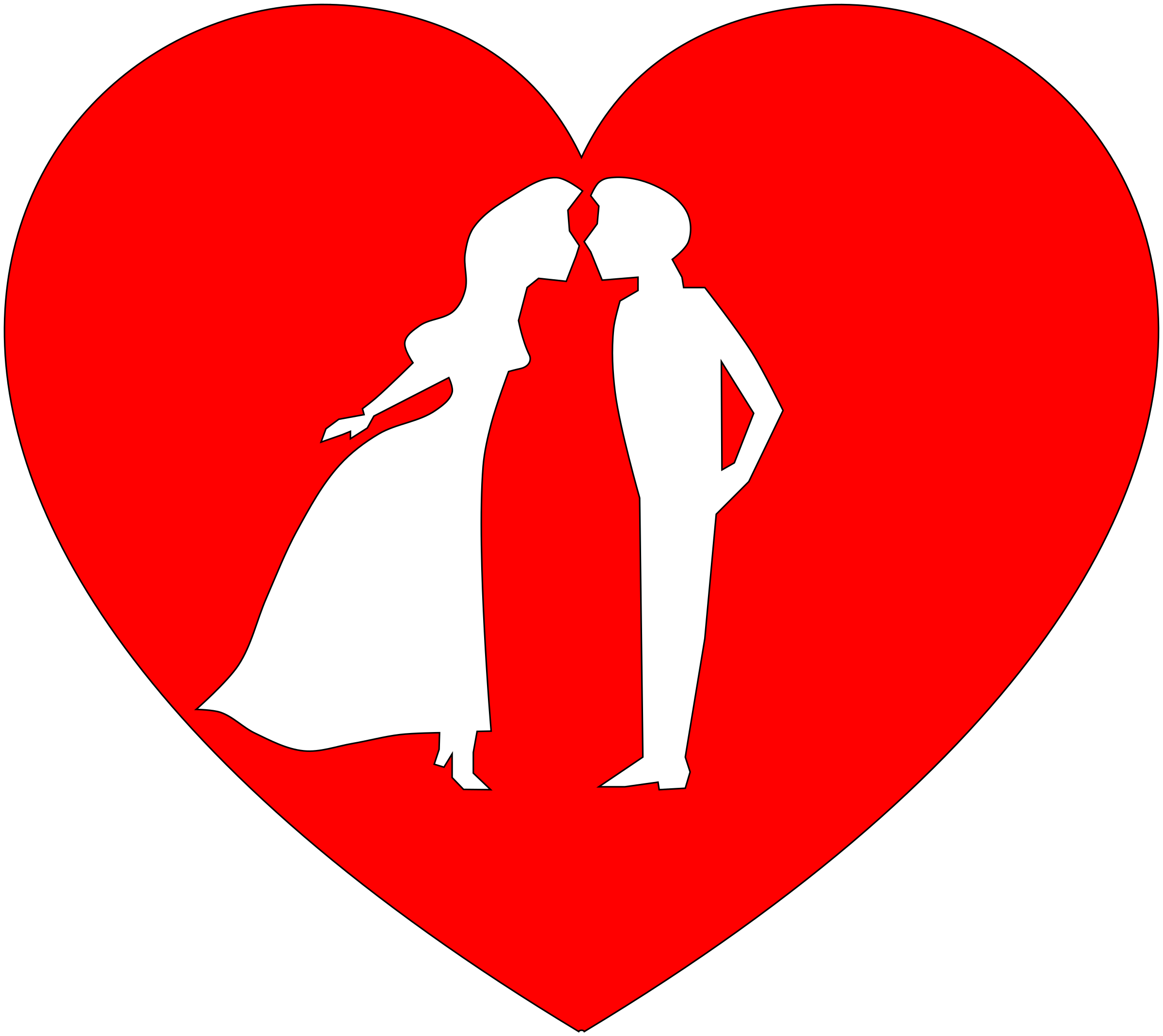 Heart, png couple. In heart icons free