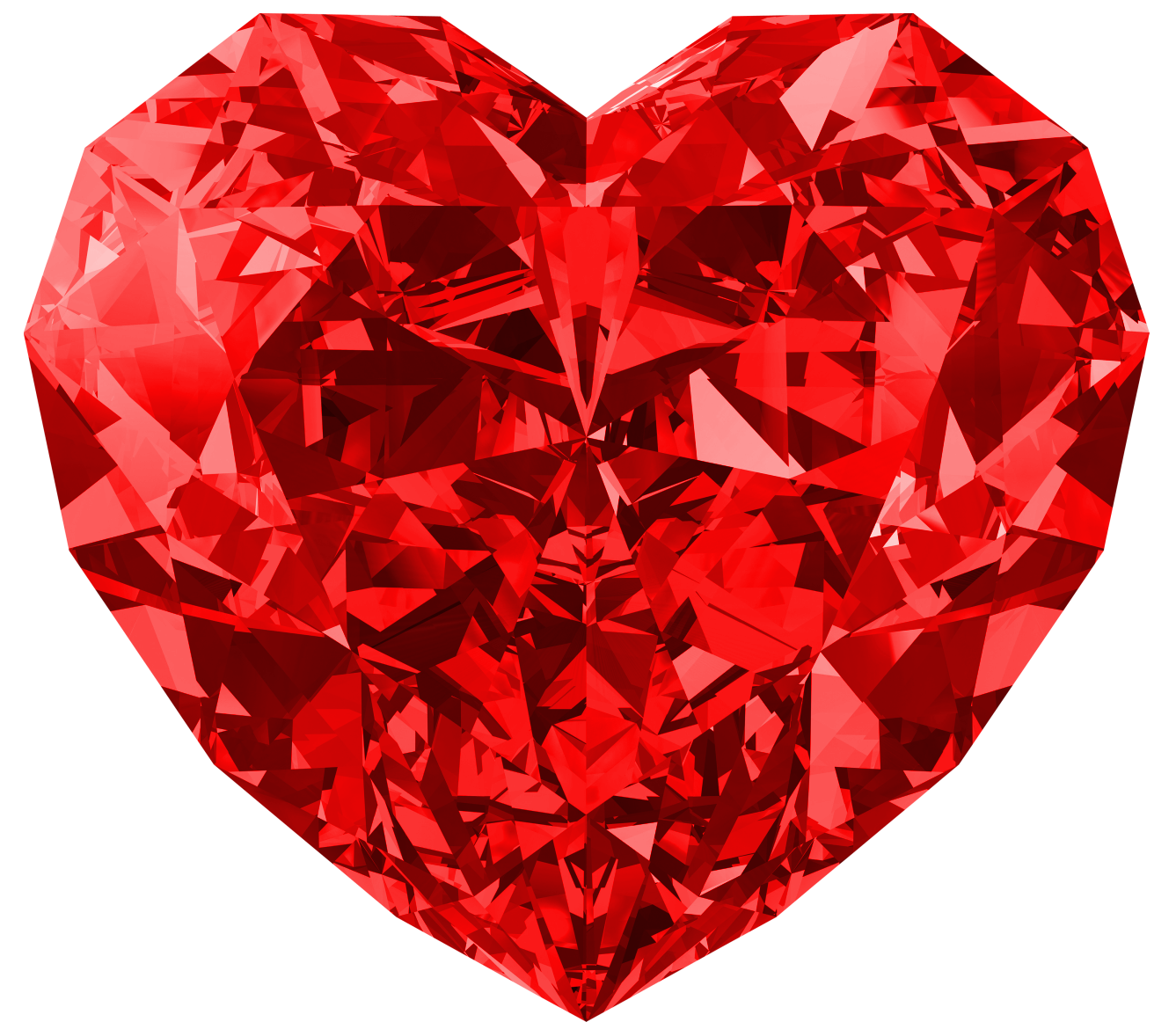 Heart, png diamond. Red heart large picture