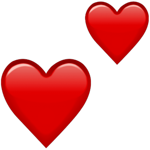 Red hearts png. Emoji double free images