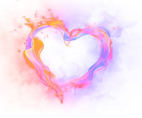 Heart, png flame. Download free render