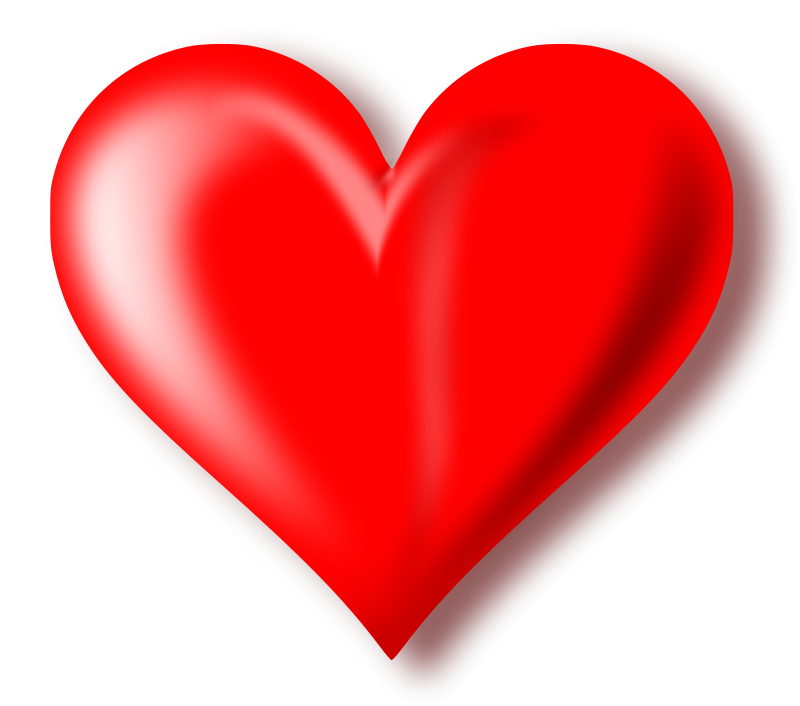 Heart png format. Image free download