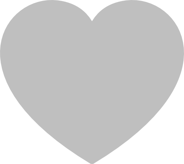 Heart, png gray