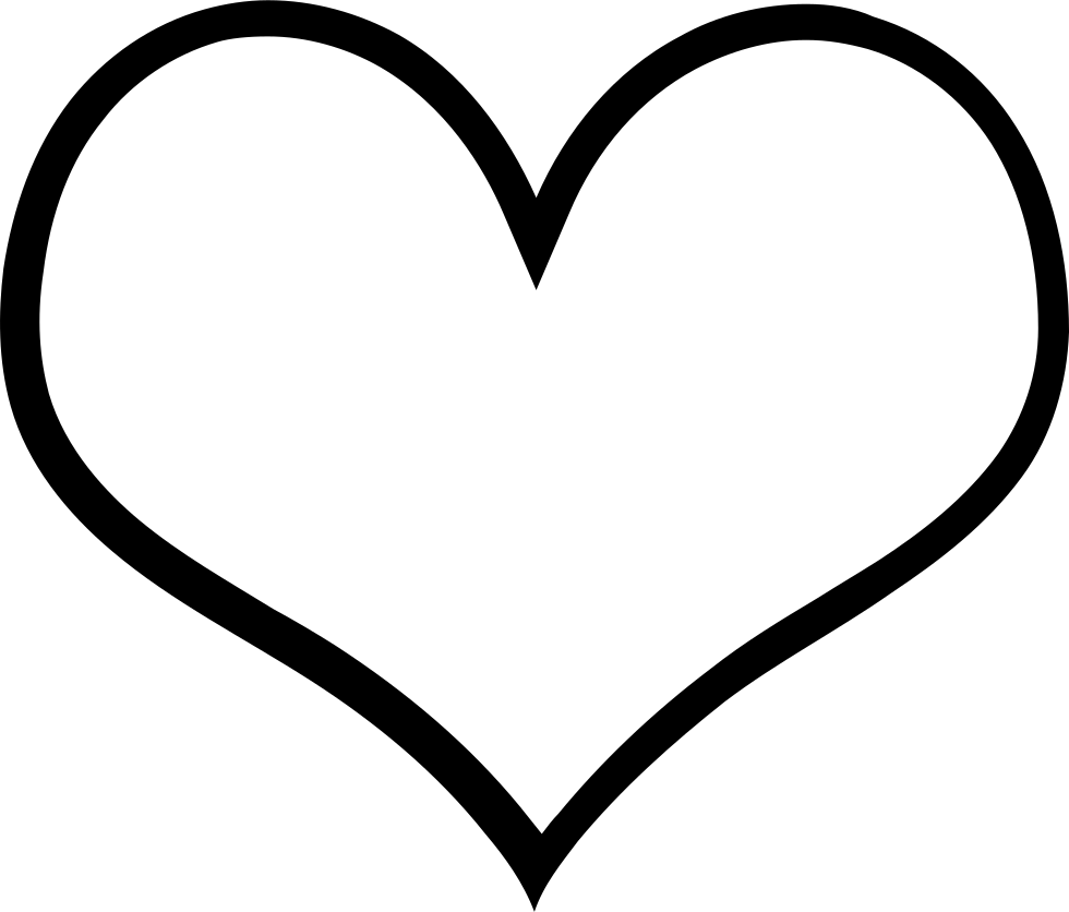 Heart png high definition. Empty hearts svg icon