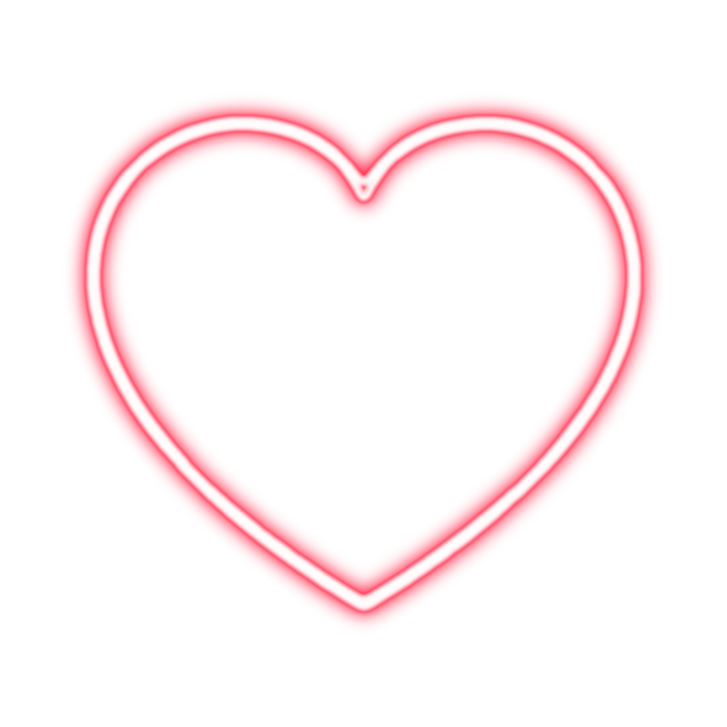 Heart, png light. Heart neon tumblr sticker