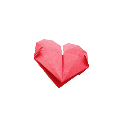 Heart, png origami. Heart shaped image purepng