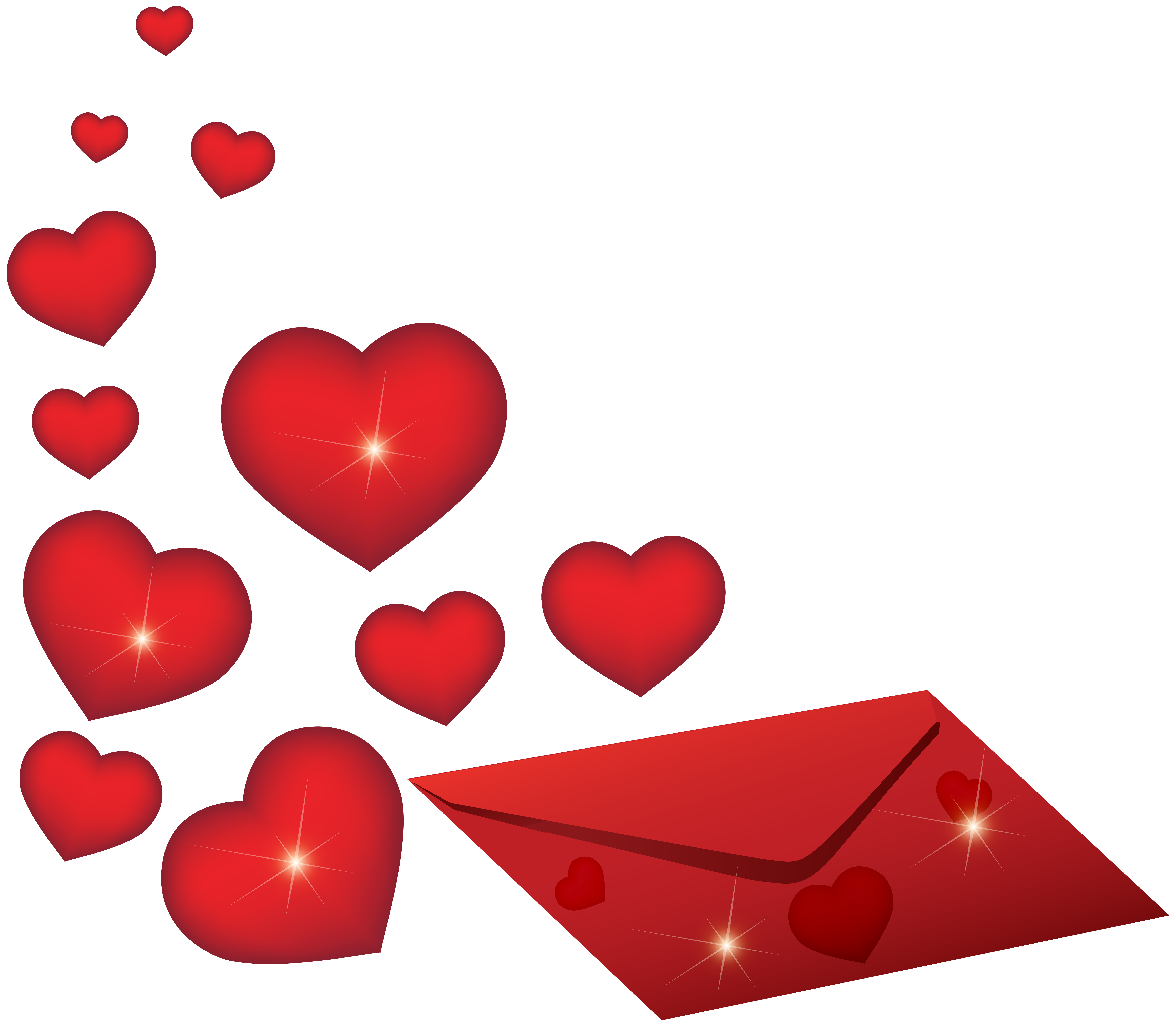 Romantic clip valentines day. Envelope with hearts png