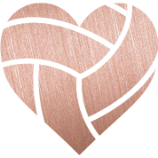Heart, png rose gold. Volleyball rosegold heart by