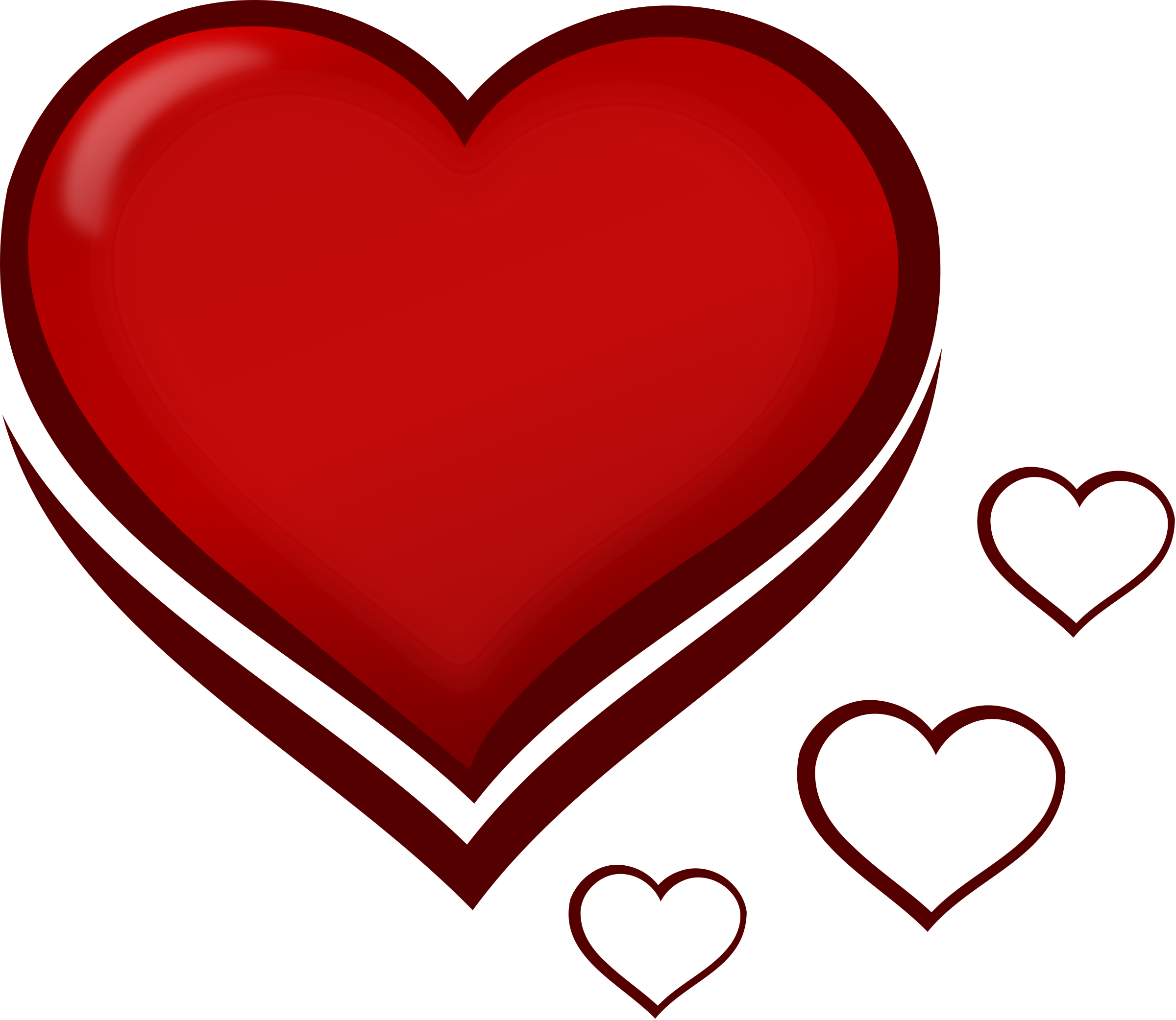 Heart, png small. Red stylised heart with