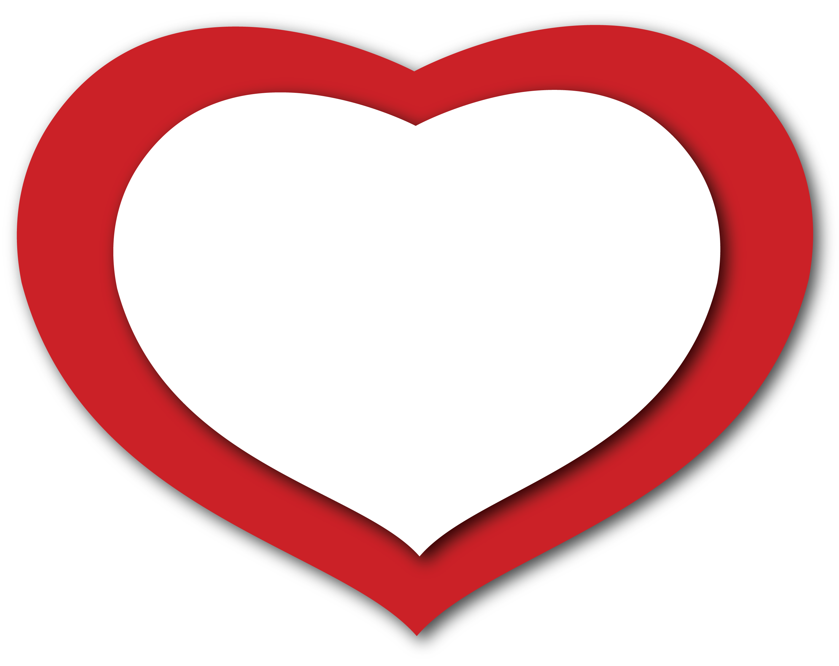 Heart png transparent background. Red and white clipart