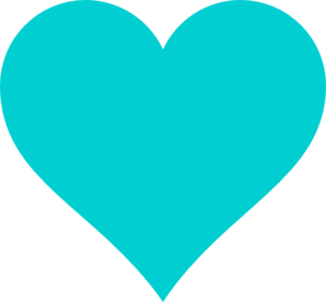 Heart, png turquoise. Teal heart clip art
