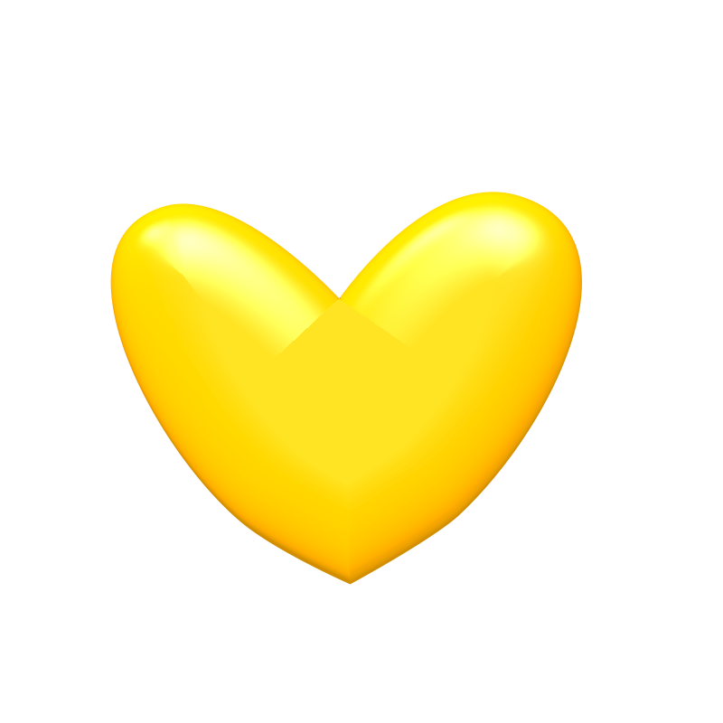 Heart, png yellow. Heart image mart