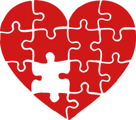 Heart puzzle png. Red design ideas hicustom