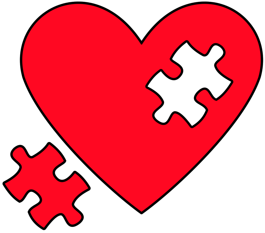 Heart puzzle png. Clipart art of ideas