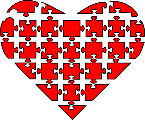 Heart puzzle png. Clip art at clker