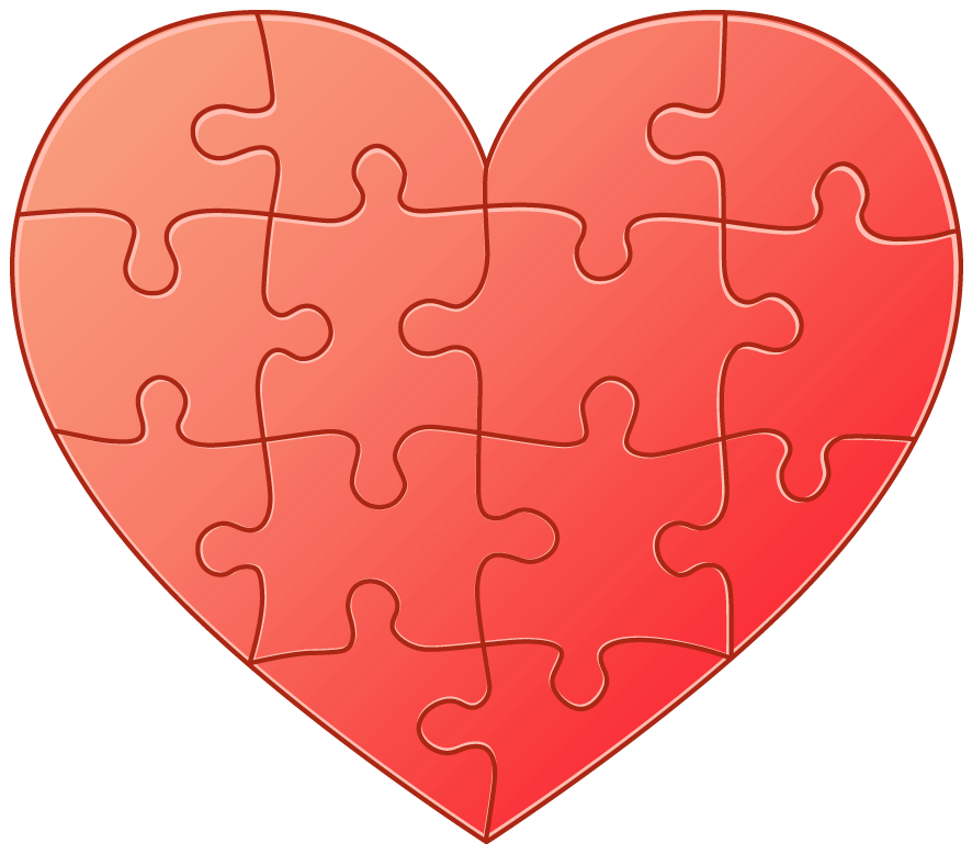 Heart puzzle png. Clipart gallery yopriceville high