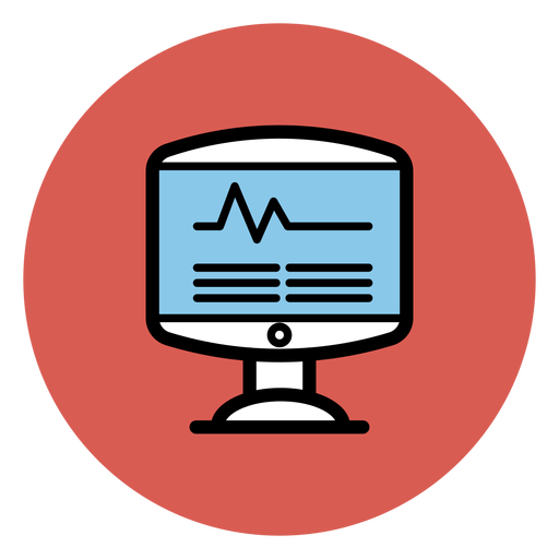 Heart rate monitor png. Icon transparent svg vector