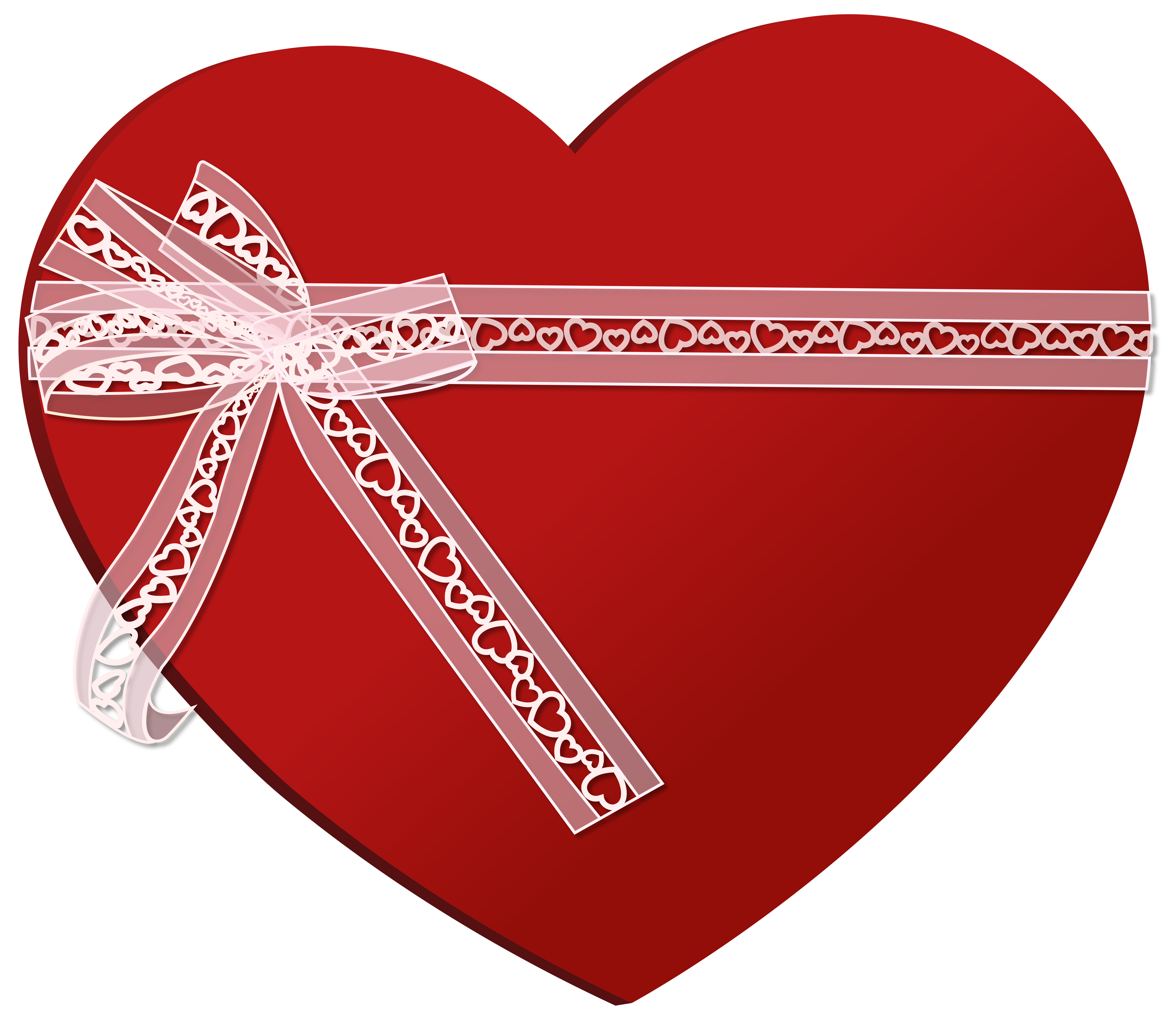 Heart ribbon png. With clip art image