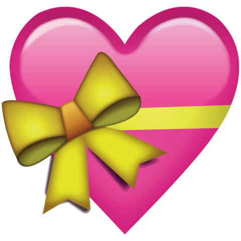 Heart ribbon png. Download pink with emoji